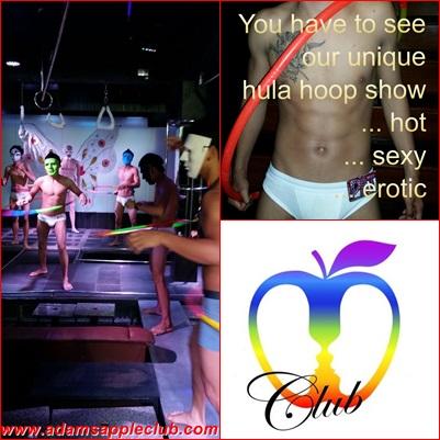 Hula Hoop Show Adams Apple Gay Club Chiang Mai