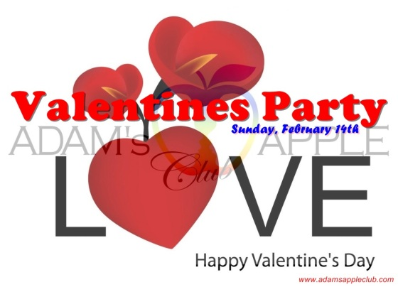 Valentines Party Adams Apple Banner