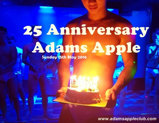 25 anniversary Adams Apple Club Banner