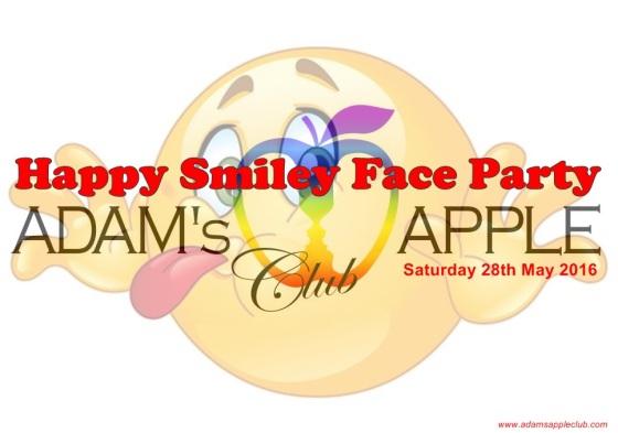 28.05.2016 Happy Smiley Face Party Adams Apple Banner