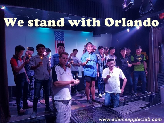 Candle-Light Vigil at Adams Apple Club