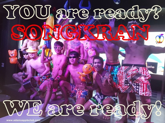 10.04.2017 We are ready for Songkran Adams Apple Club (1)