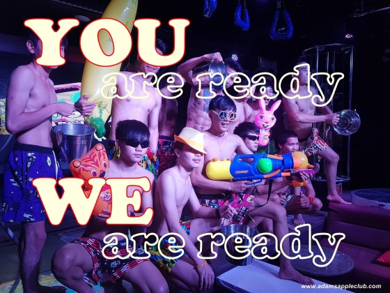 10.04.2017 We are ready for Songkran Adams Apple Club 2