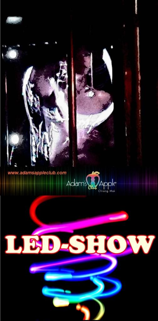 LED LIGHT Show Adams Apple Gay Club Chiang Mai Host Bar