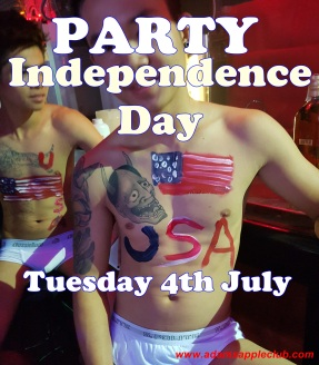 03.07.2017 Happy 4th July Independence Day Adams Apple Club b