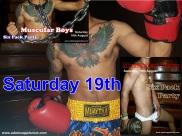17.08.2017 Muscular Boys Mister Six Pack Adams Apple Club c
