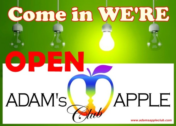 06.10.2017 We are open Adams Apple Club Chiang Mai.jpg