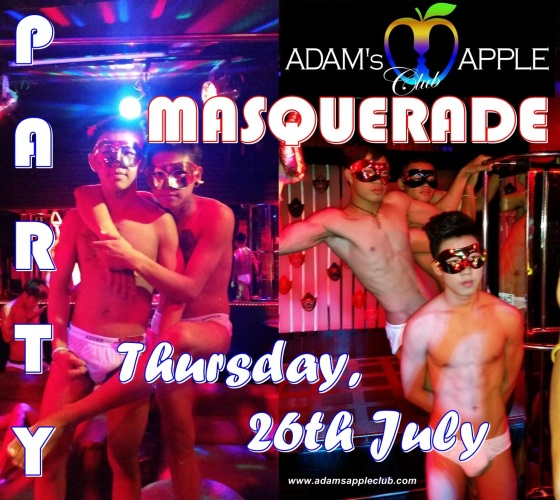 MASQUERADE Party Adams Apple Club Chiang Mai