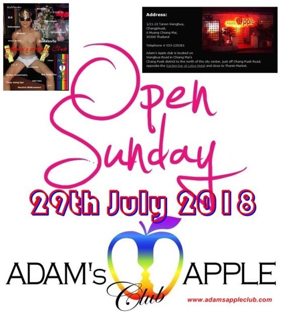 Adams Apple Club open Sunday
