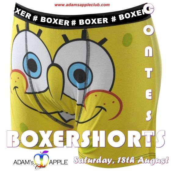 SATURDAY: BOXERSHORTS CONTEST Party Adams Apple Club