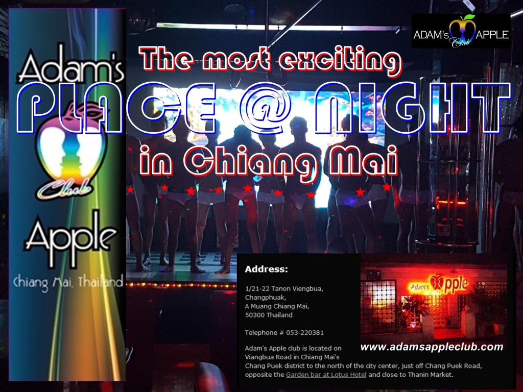 The most exciting PLACE @ NIGHT in Chiang Mai Adams Apple Club