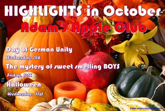 01.10.2018 highlights in October Adams Apple Club b