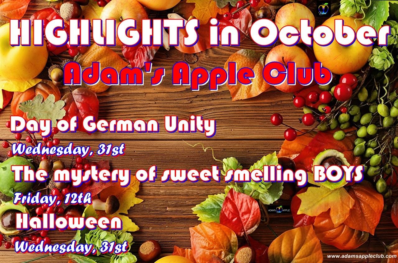 Highlights in October Adams Apple Club