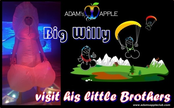 Big Willy visit his little Brothers Adams Apple Club
