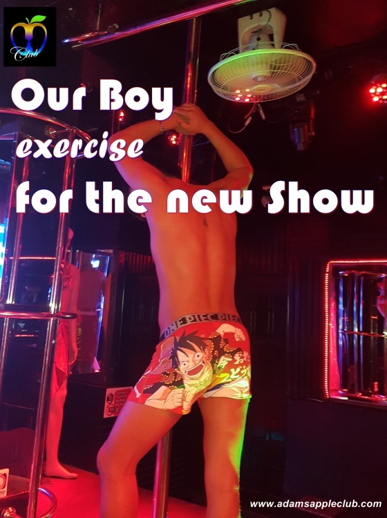 Adams Apple Club Asian Boy exercise