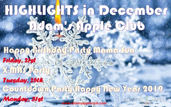 HIGHLIGHTS in December Adam's Apple Club in Chiang Mai