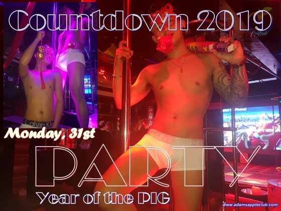 COUNTDOWN PARTY 2019 Monday, 31st @ Adam's Apple Club Chiang Mai