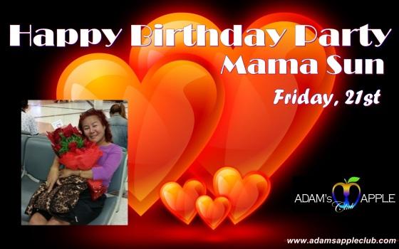 "Birthday Party Mama Sun"" @ Adam's Apple in Chiang Mai"