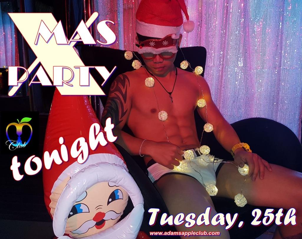 Santa tonight X-Mas Adams Apple Club