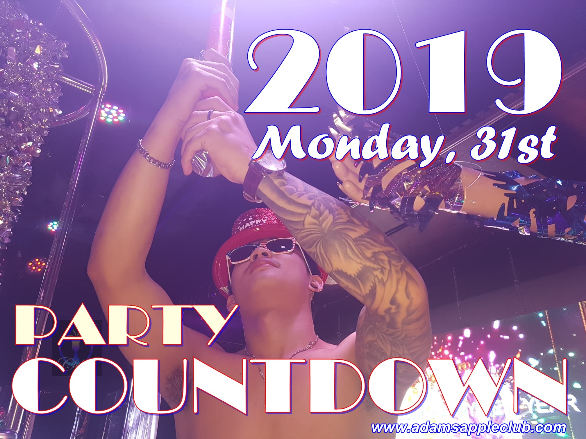 Countdown Party 2019 Adams Apple Club Chiang Mai