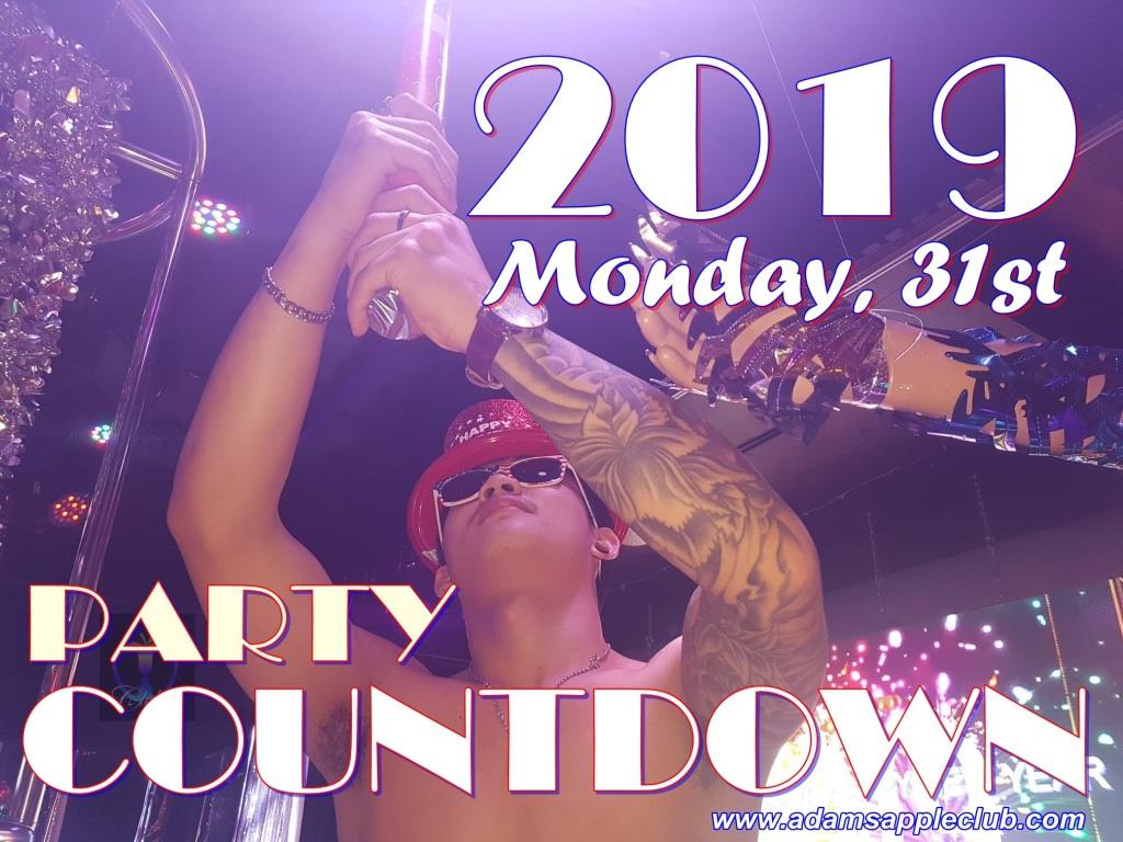 Countdown Party 2019 Adams Apple Club Chiang Mai