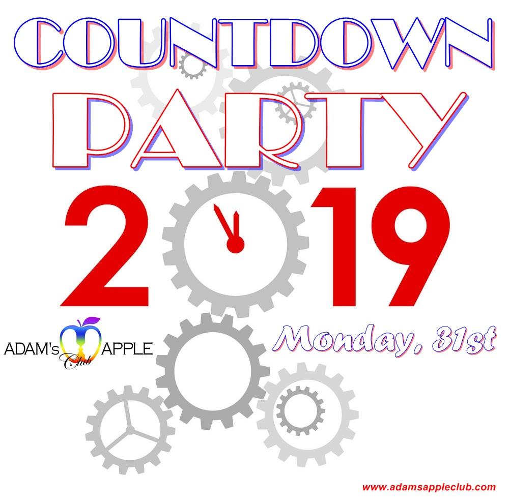 NYE 2018 Countdown Adams Apple Club