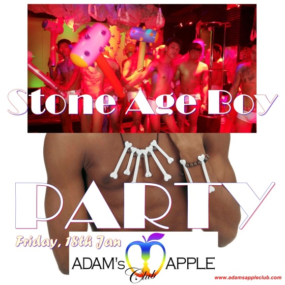 Stoneage Boy Party Adams Apple Club