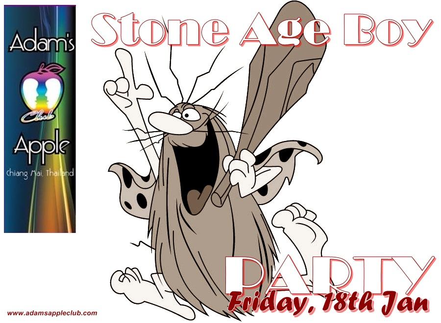 Stone Age Boy Party Adams Apple Club