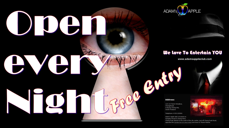 Adams Apple Club Chiang Mai open every night