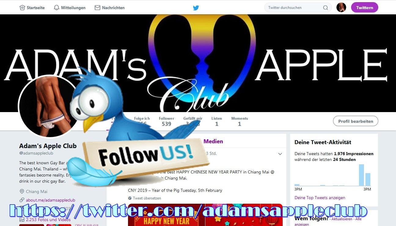Adams Apple Club Chiang Mai twitter.com