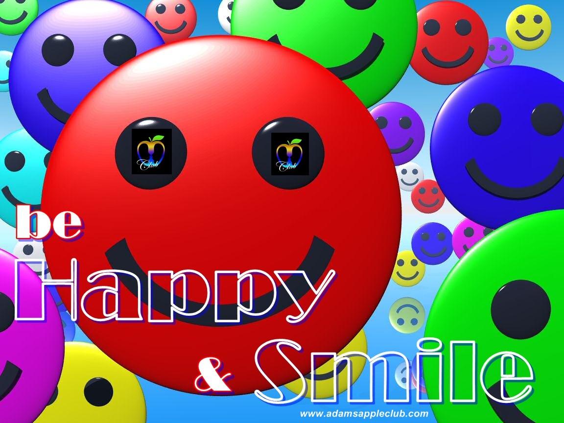 be Happy and Smile Admas Apple Club