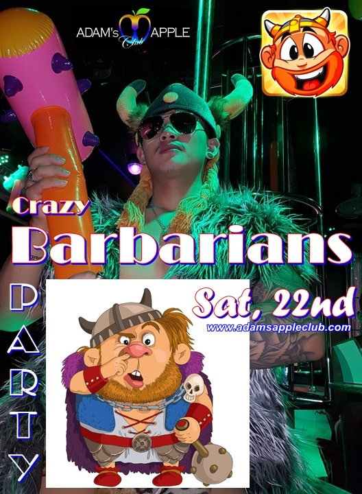 Crazy Barbarians Party Adams Apple Club Chiang Mai