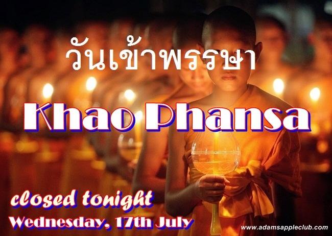 Khao Phansa Day 2019 Adams Apple Club CNX