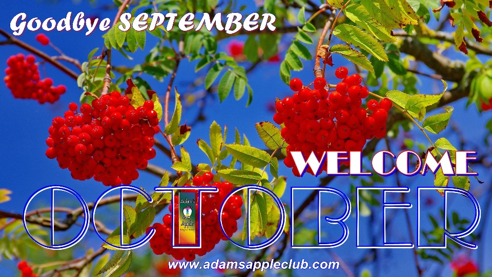WELCOME OCTOBER 2019 Adams Apple Club