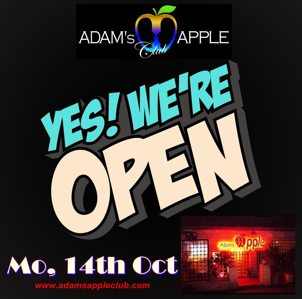 Adams Apple Club We are open Monday