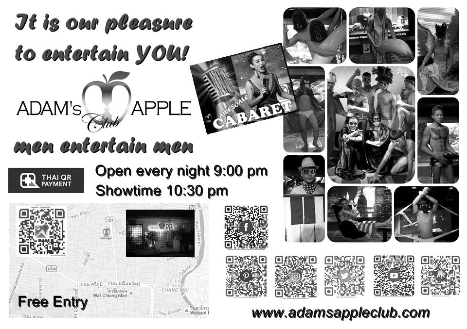 men entertain men Adams Apple Club Host Bar