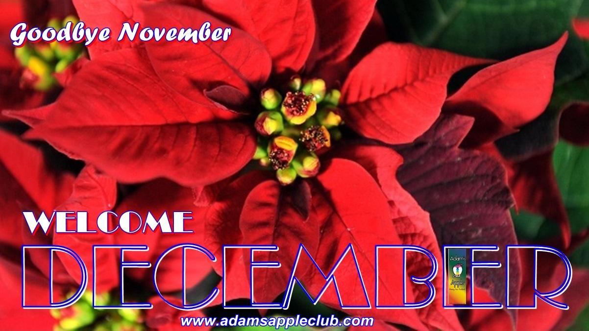 Welcome December 2019 Adams Apple Club