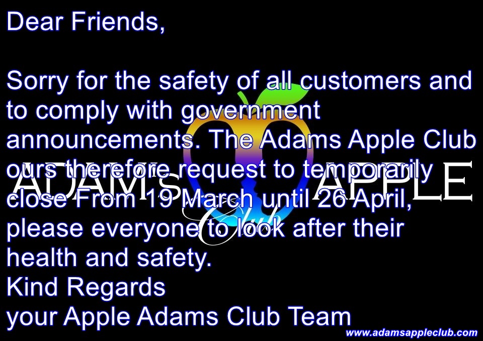 Close until 26st April Adams Apple Club