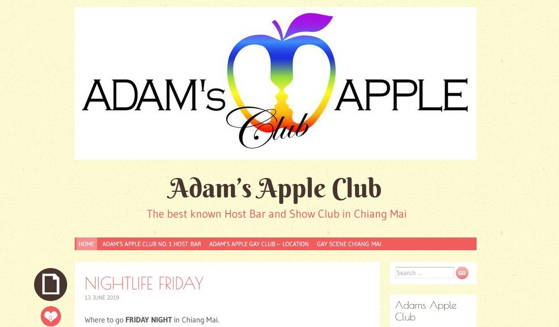 Follow us on wordpress Adams Apple Club Chiang Mai Gay
