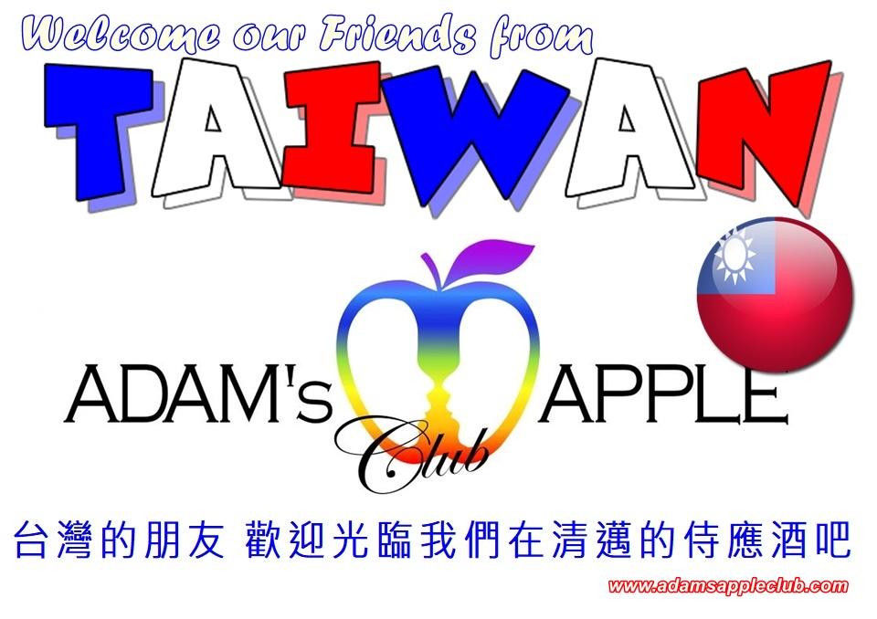 Welcome TAIWAN at Adam's Apple Club Gay Bar Chiang Mai