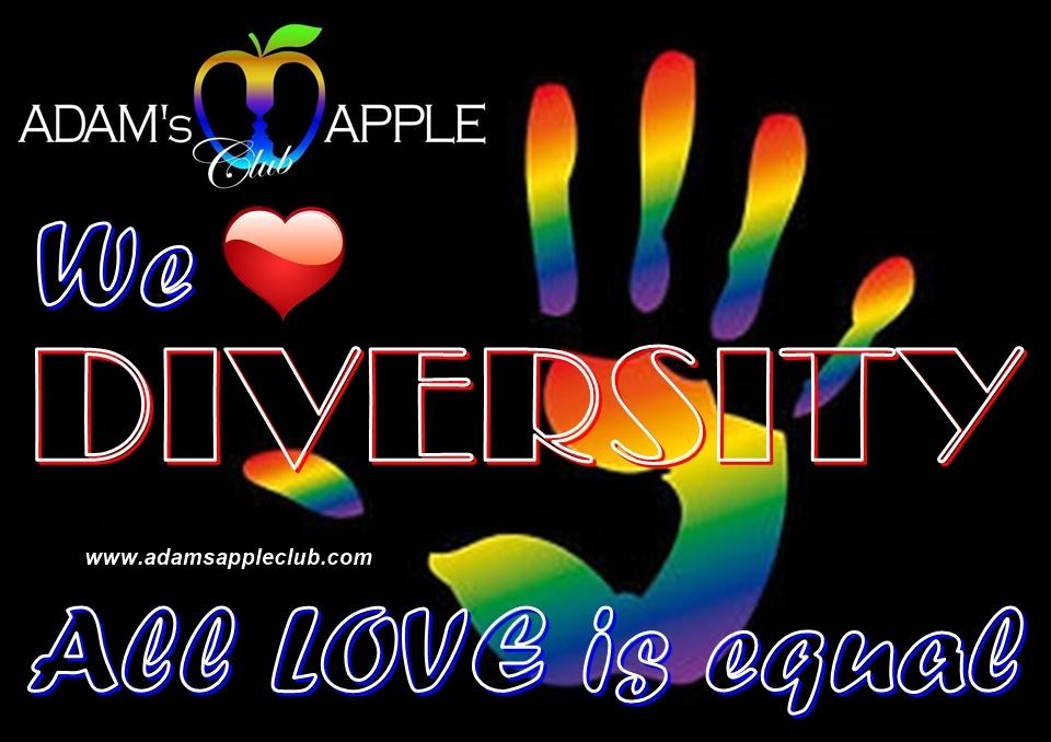 We LOVE DIVERSITY Adams Apple Gay Club Chiang Mai Host Bar