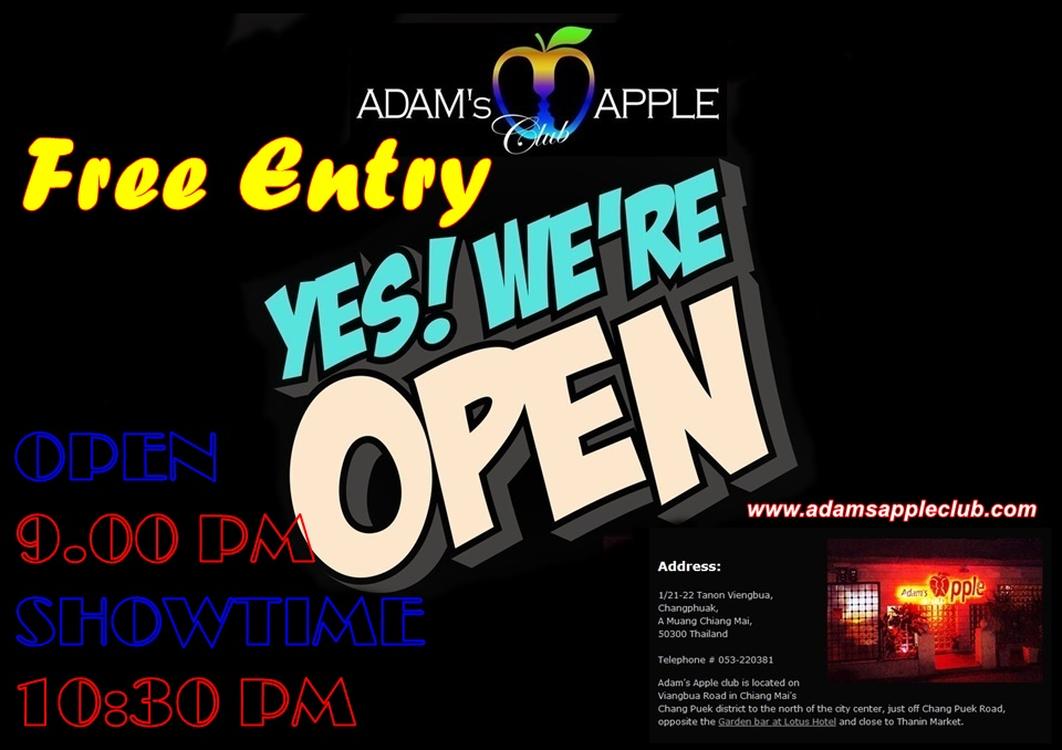 Adams Apple Gay Club Chiang Mai Showtime