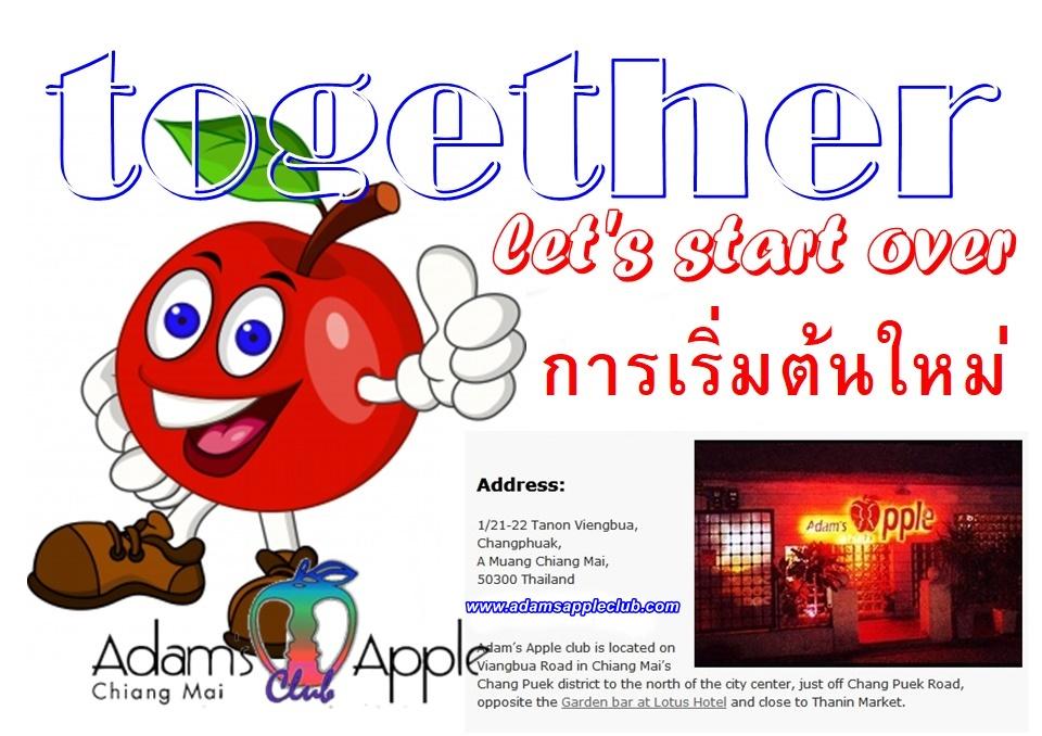 let's start over together Adams Apple Club