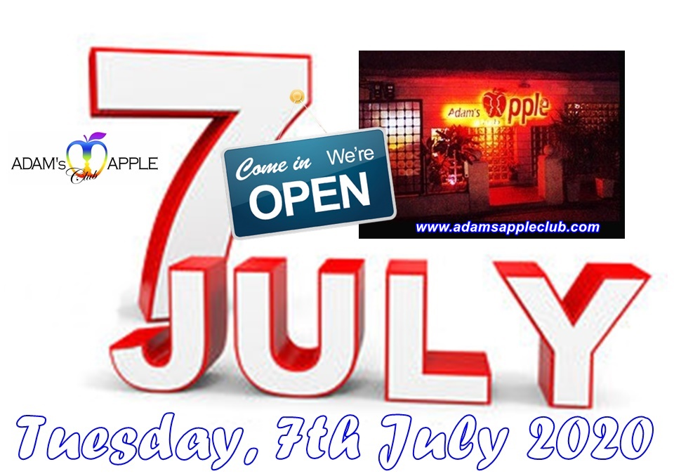 Tuesday 7th July 2020 Adams Apple Club
