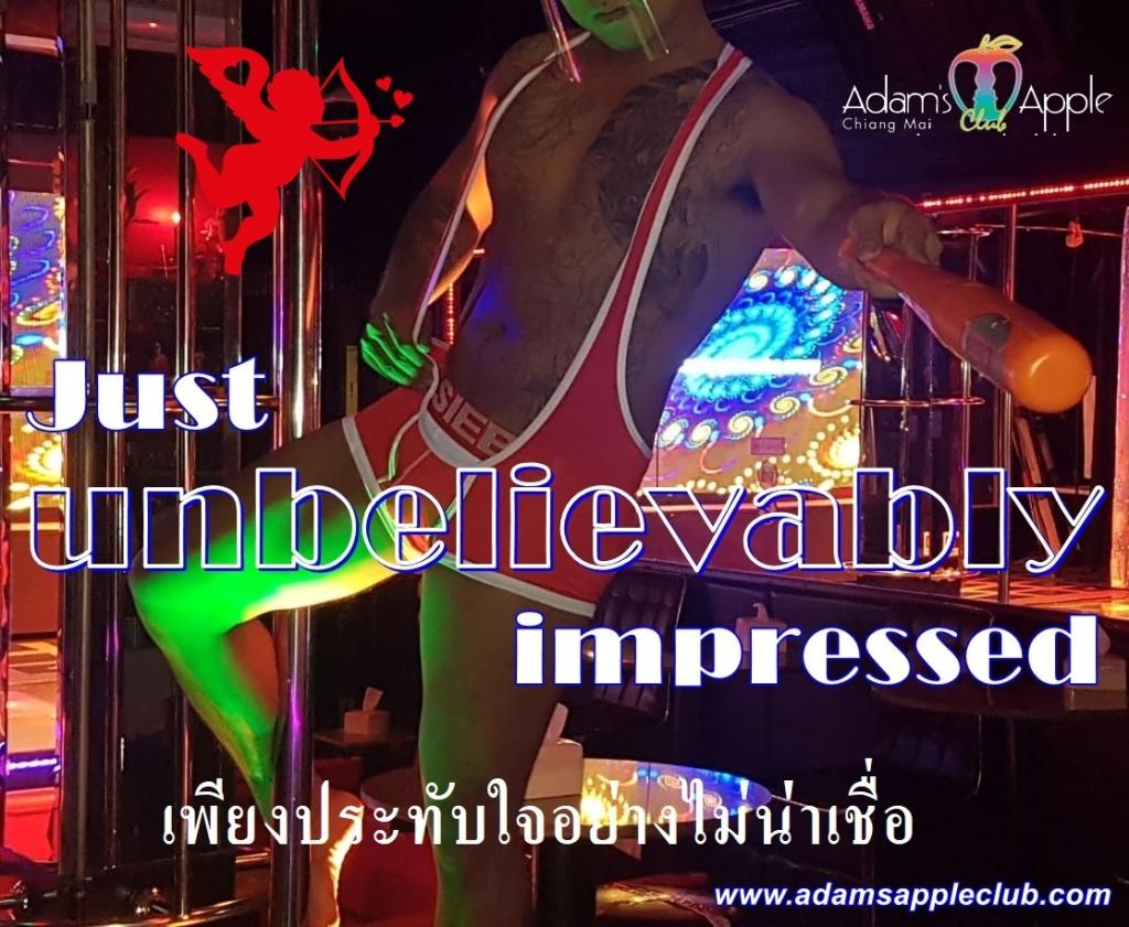 Just unbelievably impressed Adams Apple Club Chiang Mai Host Bar Gay Bar