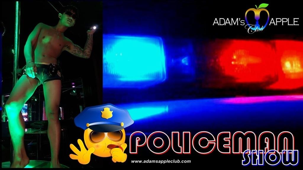 POLICEMAN SHOW Adams Appel Club Chiang Mai Gay Bar