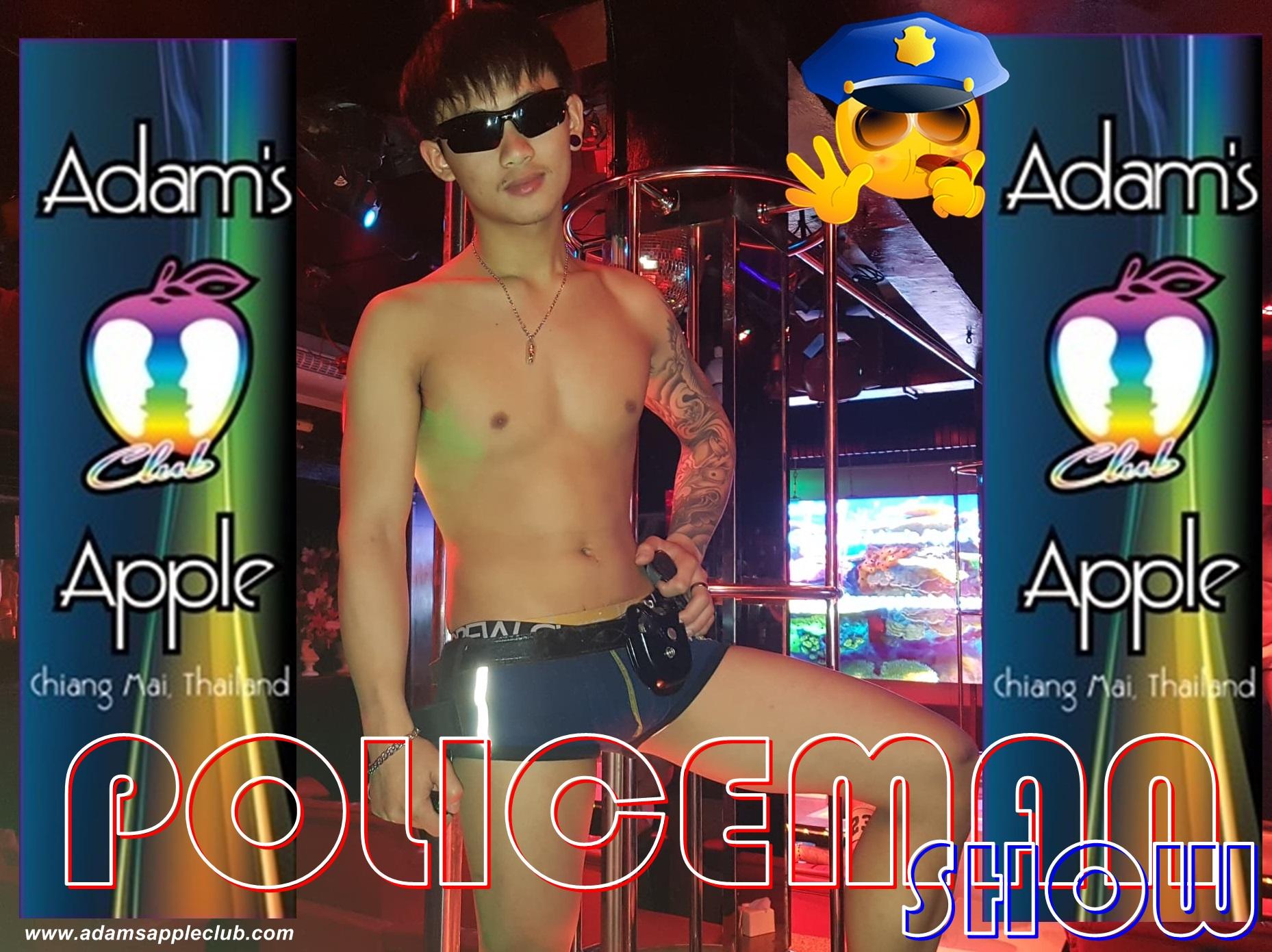 POLICEMAN Show Adams Apple Club Chiang Mai Host Bar Gay Bar Thailand
