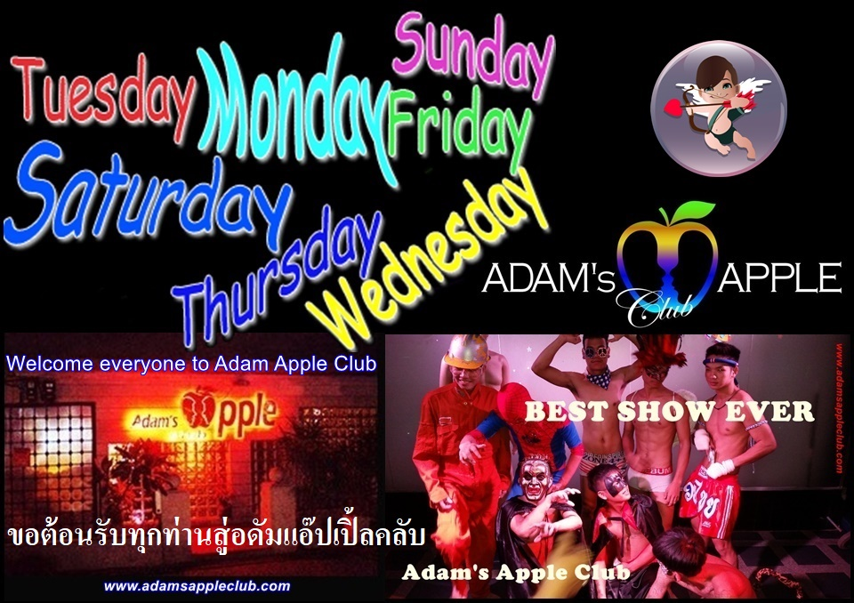 We wish YOU a nice week, your team from Adam's Apple Club in Chiang Mai. Most well reputed Gay Bar Chiang Mai, Thailand