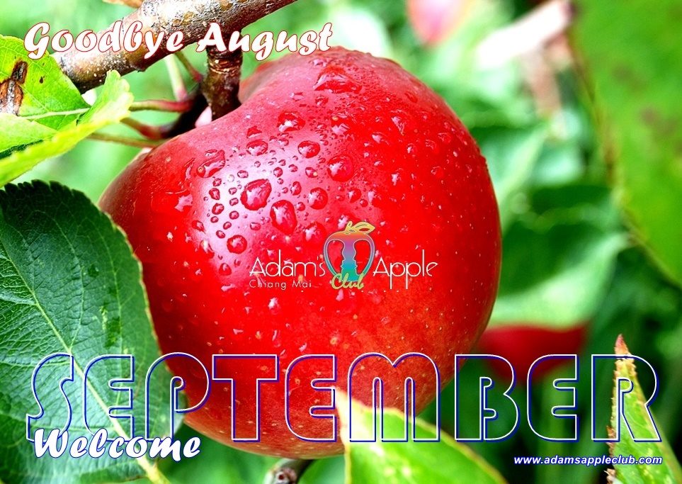 Goodbye August Welcome SEPTEMBER 2020 Adams Apple Club Chiang Mai