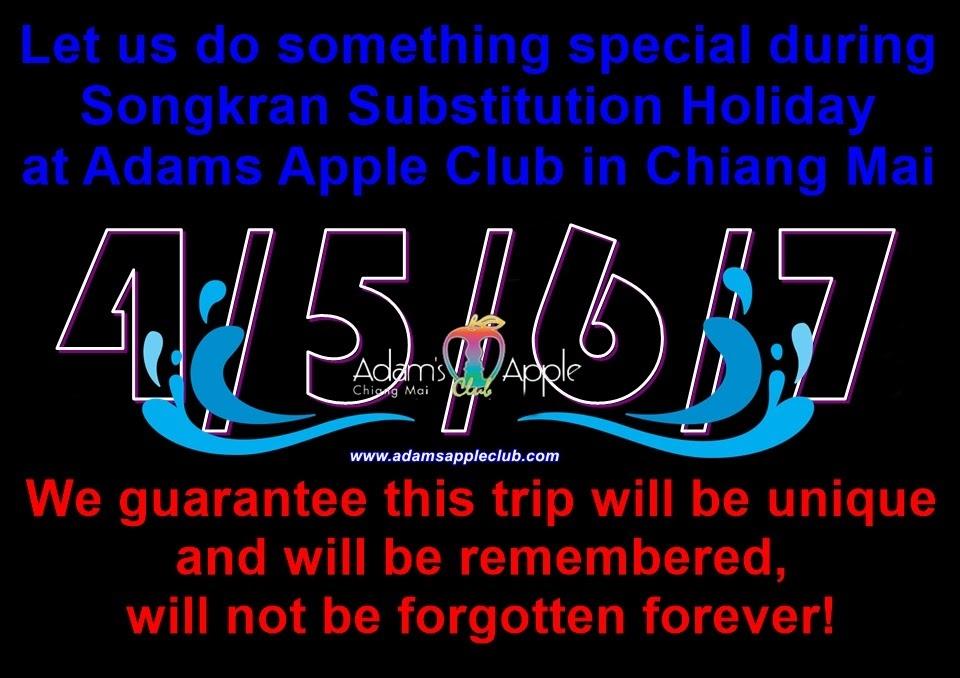 Substitution Songkran Adams Apple Club Chiang Mai Thailand